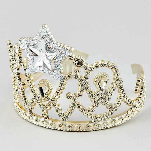Girls Gold Star Crown