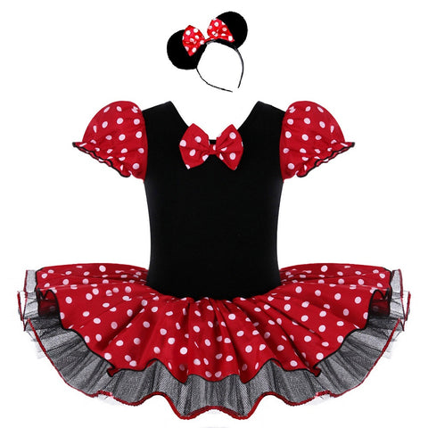 Spotty Mouse Ballet Leotard with matching headband