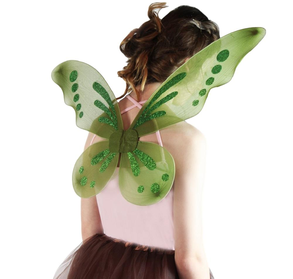 girl wearing Olive Pixie Wings