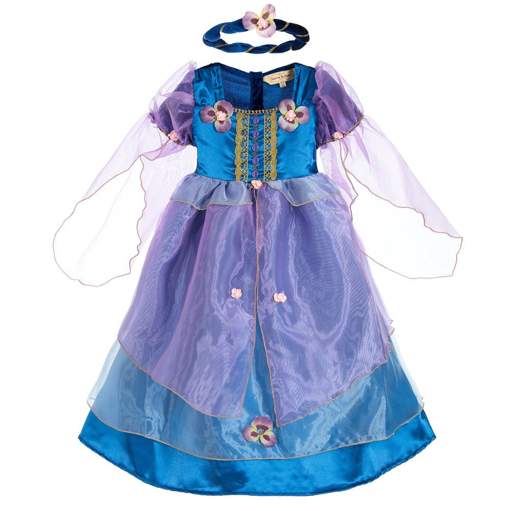 Orchid Maiden blue and purple Princess costume.