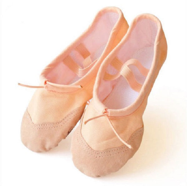 Nude Canvas Ballet Pumps