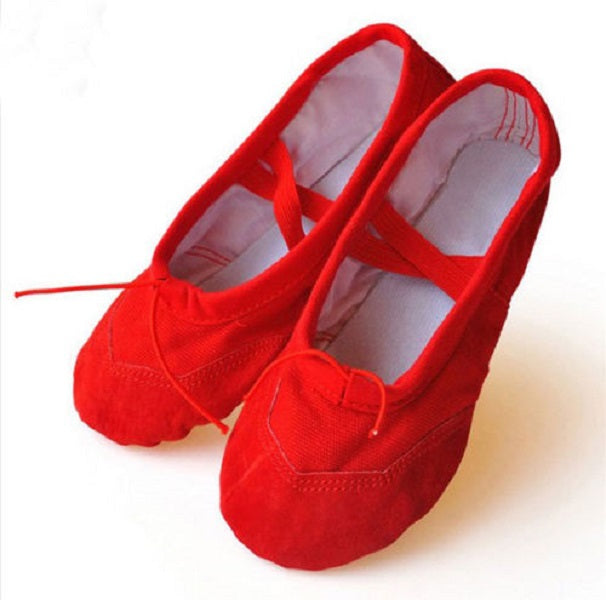 Red Canvas Ballet Pumps