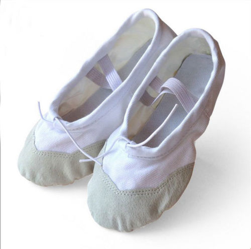White Canvas Ballet Pumps