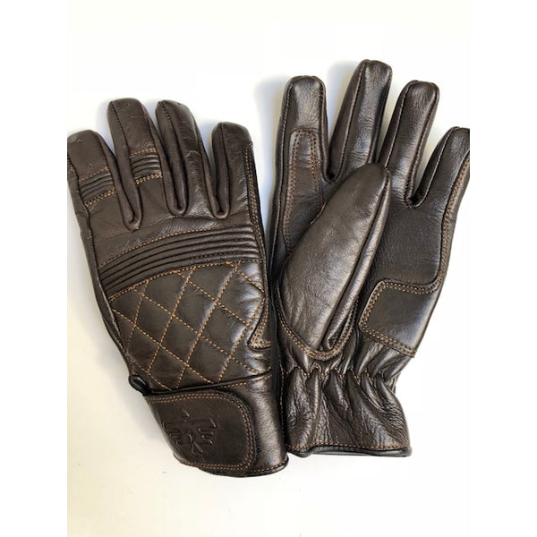 Cafe Quilted Gloves, Chocolate
