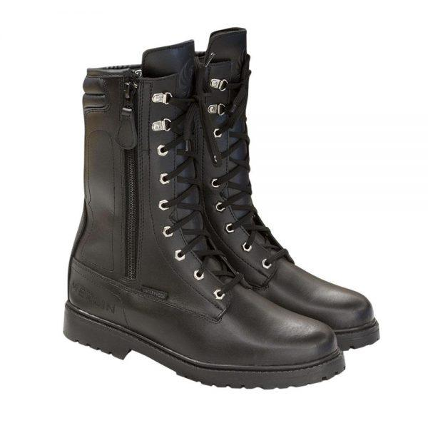 Combat Leather Boots, Black