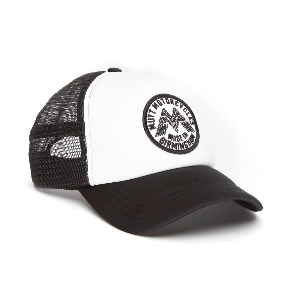 Mutt Wings Patch Cap, White/Black