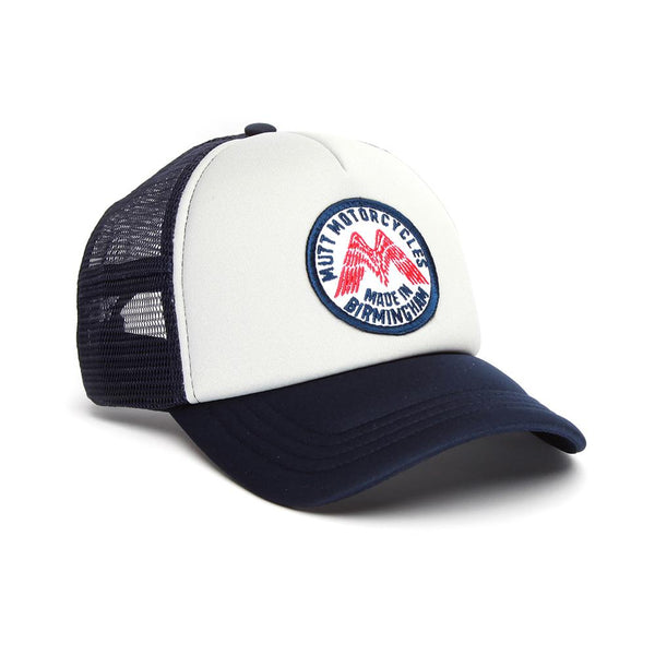 Mutt Wings Patch Cap, Grey/Navy