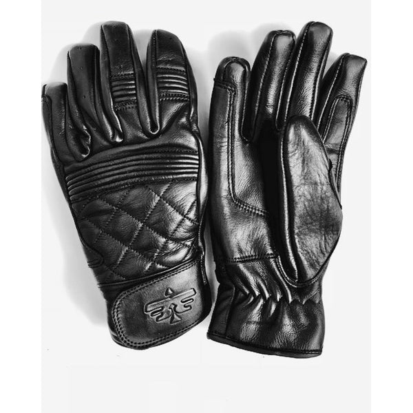 Cafe Quilted Gloves, Black