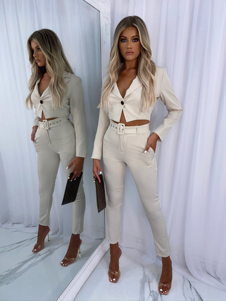 Stevie Suit Two Piece - Stone