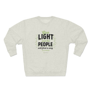 Ella Baker - Give Light and the People Will Find a Way - Unisex Heavyweight Fleece Crew