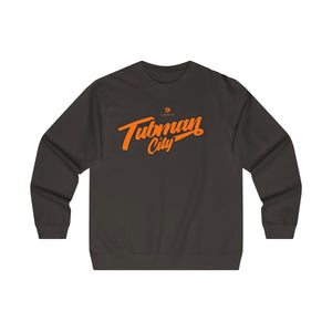 Tubman City Midweight Crewneck Sweatshirt (Orange w/Black Trim)