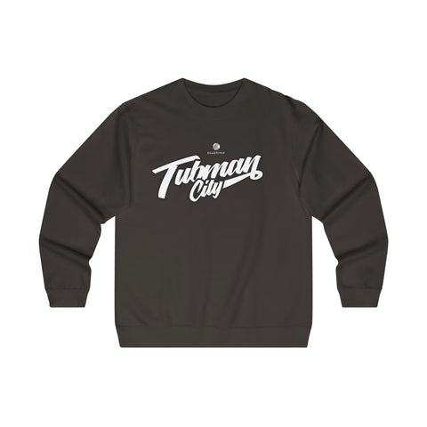 Tubman City - Midweight Crewneck Sweatshirt (Black & White)