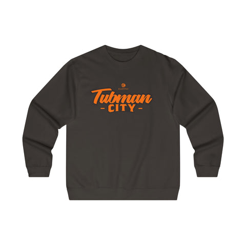 Tubman City Midweight Crewneck Sweatshirt (Orange & Black Flat)