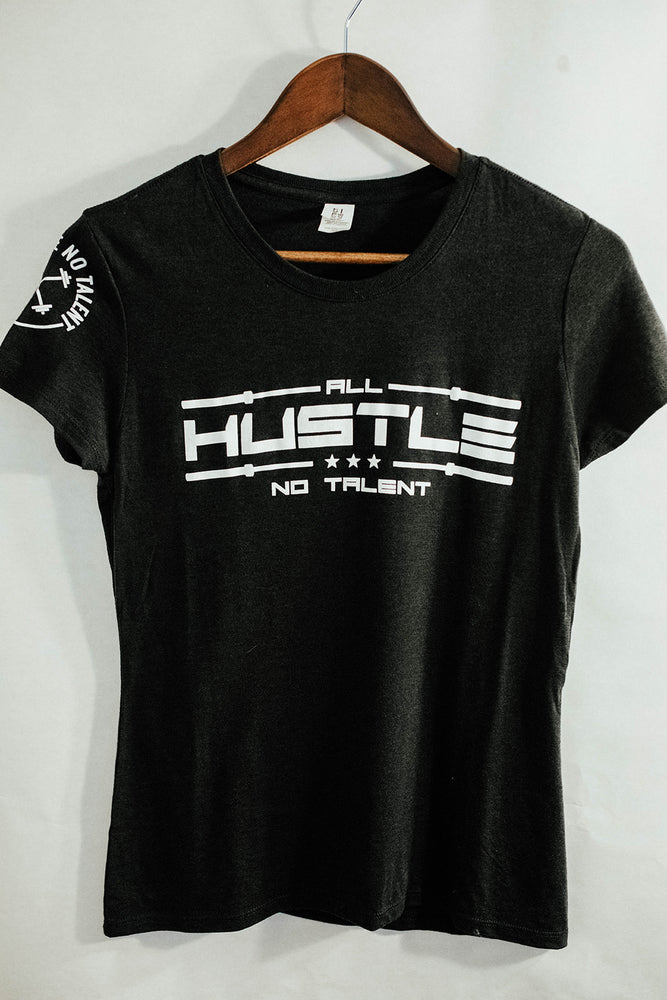 Women's Black Tri-Blend Crew T-shirt