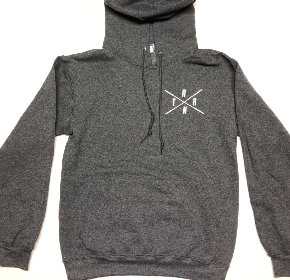 Male/Female Black Heather Pull Over Hoodie