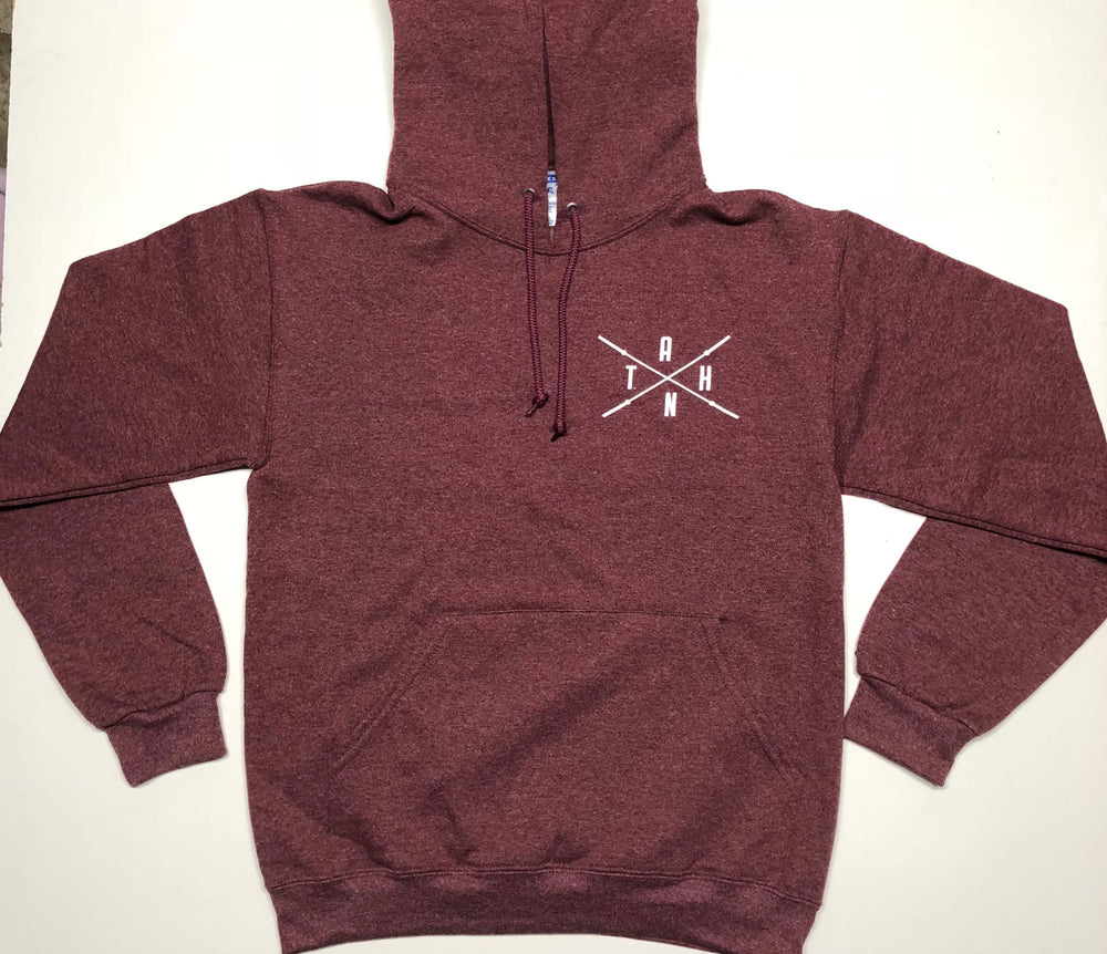 Load image into Gallery viewer, Male/Female Maroon Pull Over Hoodie