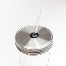 Load image into Gallery viewer, Straw Hopper - Mason Jar Lid with Straw Hole