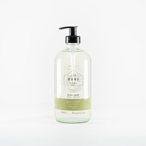 The Bare Home - Bergamot and Lime Natural Dish Soap