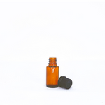 Amber Essential Oil Bottle with Dropper - 15ml