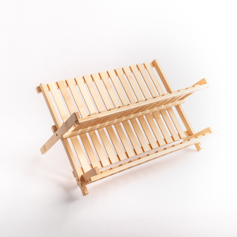 Load image into Gallery viewer, Bamboo Dish Rack