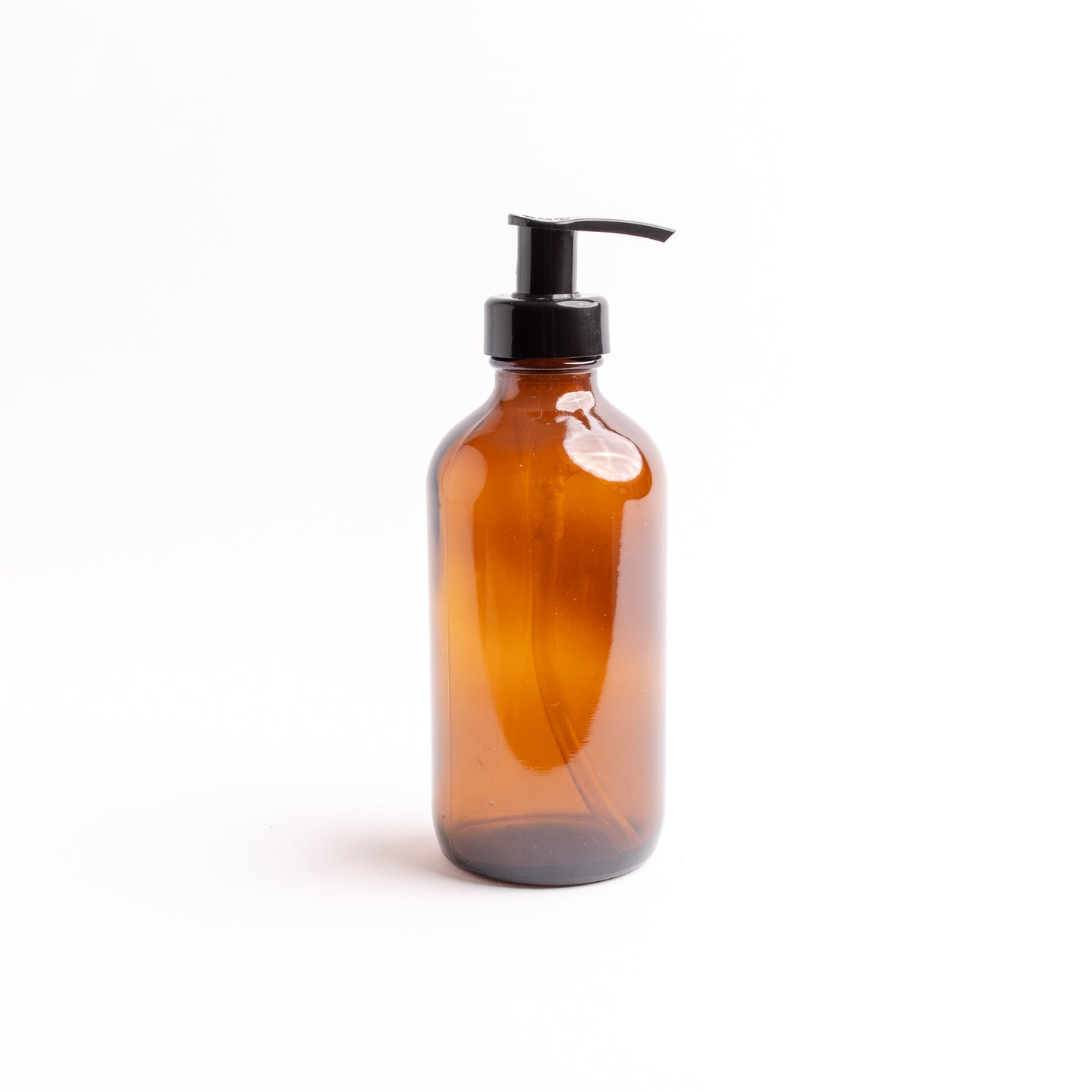 Amber Glass Bottle - with Pump