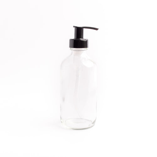 Clear Glass Bottle - with Pump