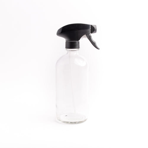 Clear Glass Bottle - with Spray