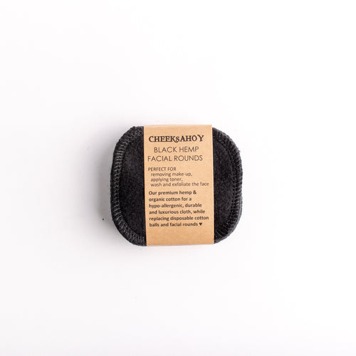 Reusable Black Hemp Facial Rounds