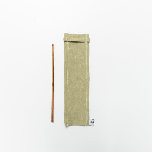Lekko Life Goods - Linen Straw Sleeves - The Kind Matter Co.