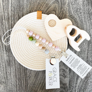 Grace and Parker Soother Clip - The Kind Matter Co.