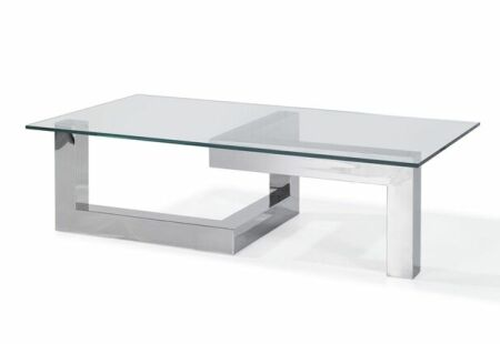 COFFEE TABLE BASE, POLISHEDISHED STAINLESS STEEL