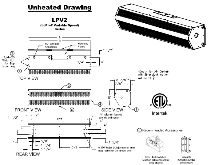 LoPro2 Unheated Drawing