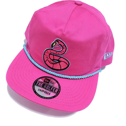 Flamingo Pink Golfer hat