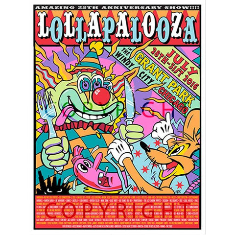 2016 Lollapalooza Poster — Commemorative Edition