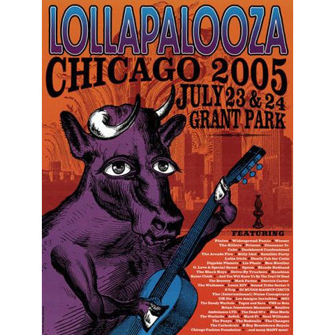 2005 Lollapalooza Commemorative Poster