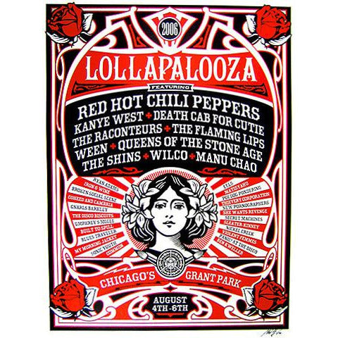 2006 Lollapalooza Commemorative Poster