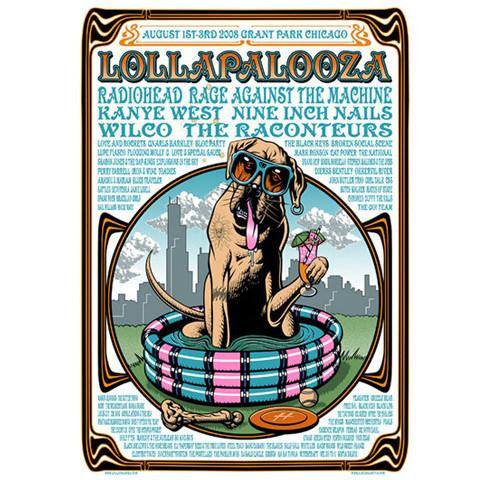 2008 Lollapalooza Commemorative Poster