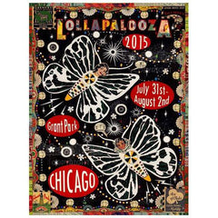 2015 Lollapalooza Poster — Signed & Numbered Edition