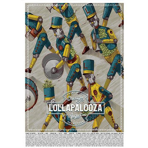 2017 Lollapalooza Poster - Commemorative Edition