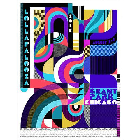 2018 Lollapalooza Poster - Commemorative Edition