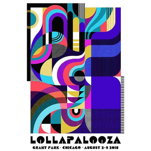 2018 Lollapalooza Poster - Signed & Numbered Edition