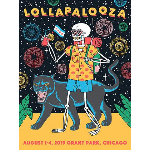 2019 Lollapalooza Poster - Commemorative and Foil Editions