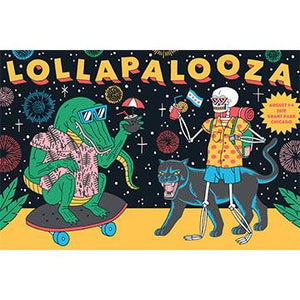 2019 Lollapalooza Poster - Signed & Numbered Edition