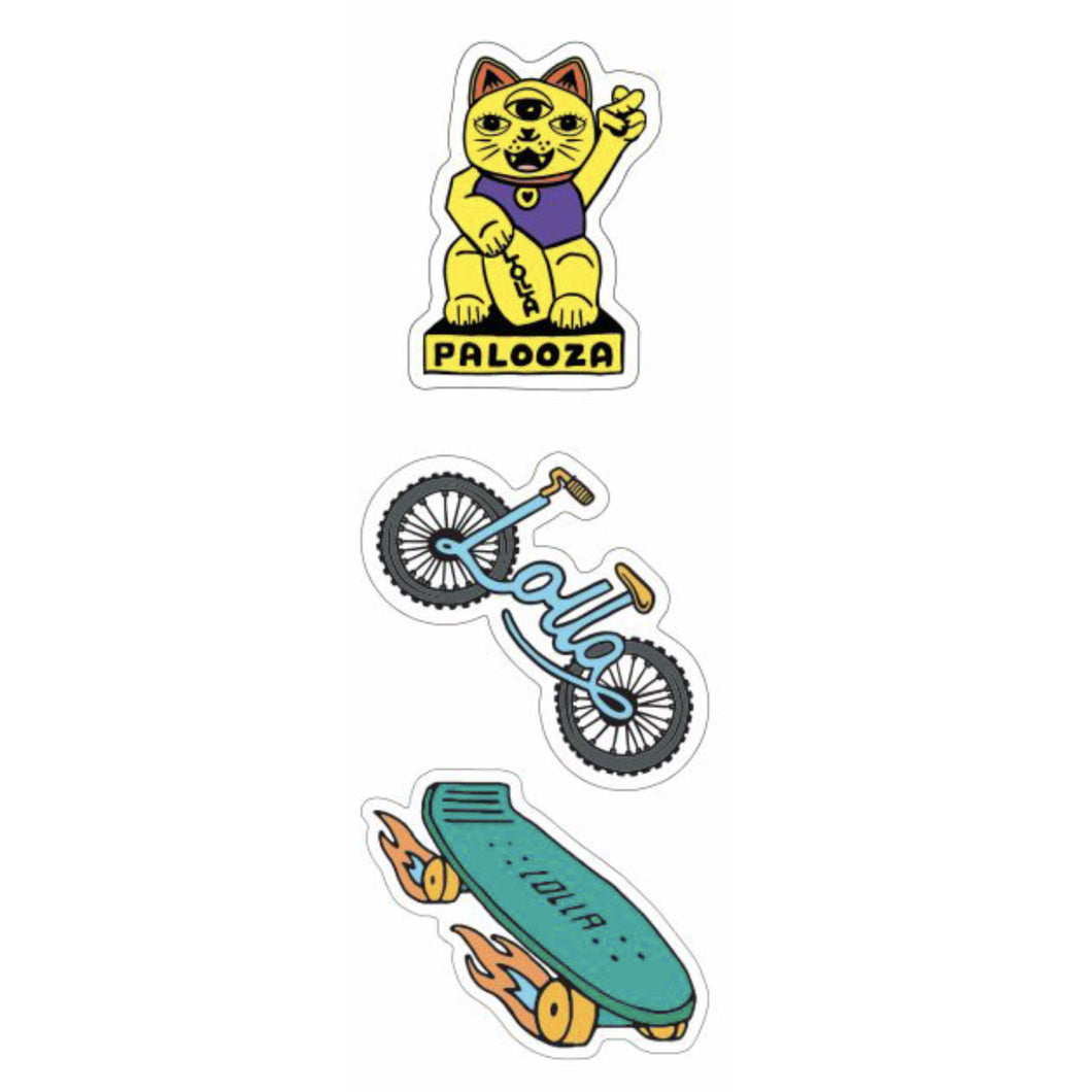 Lollapalooza Sticker Sheet