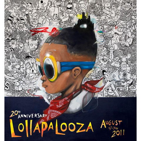 2011 Lolla Poster — Signed & Numbered Edition