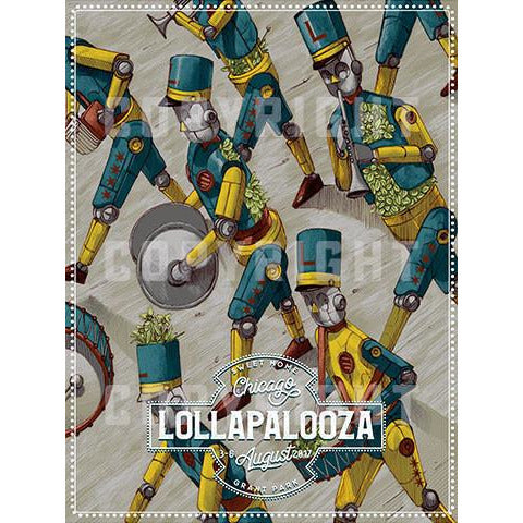 2017 Lollapalooza Poster - Signed & Numbered Edition