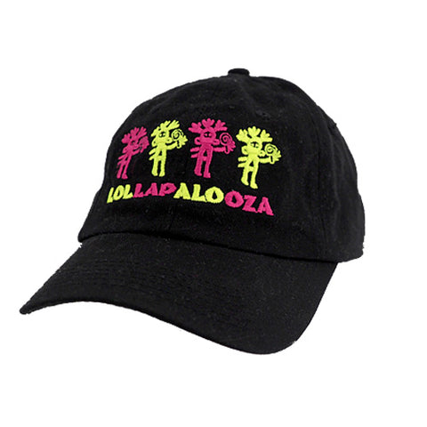 Black Vintage Lolla Dad Hat