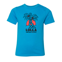 Load image into Gallery viewer, Kids Palm Turquoise Lineup Tee