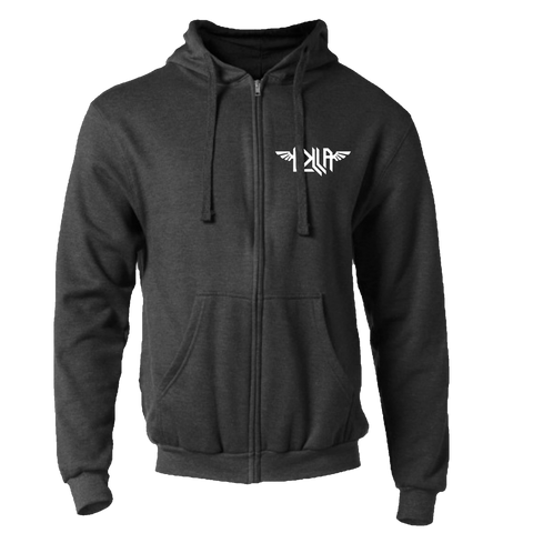 Winged Heart Charcoal Hoodie