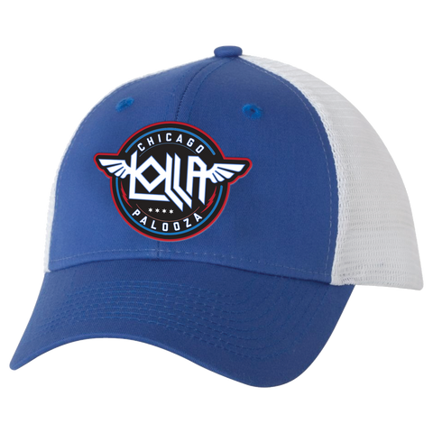 Winged Royal-White Trucker